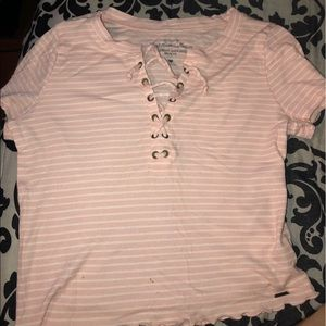 Hollister lace up tee